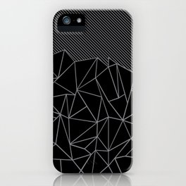 Ab Lines 45 Grey and Black iPhone Case