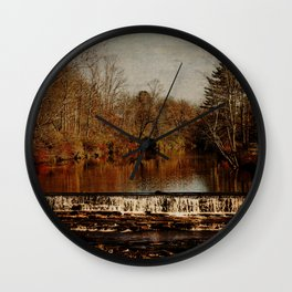 October Colors Along the Stream Wall Clock