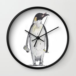 Penguin Accountant  Wall Clock