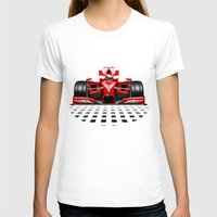 formula 1 T-shirts featuring Formula 1 Red Race Car by BluedarkArt