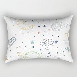space in white Rectangular Pillow