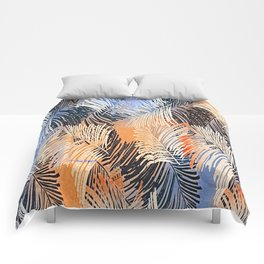 Palm Leaves By Annie Zeno Comforters