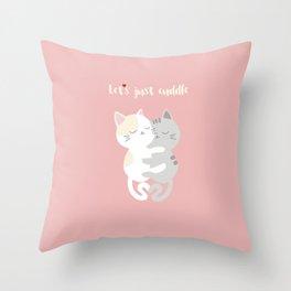 Cuddling kittens Throw Pillow
