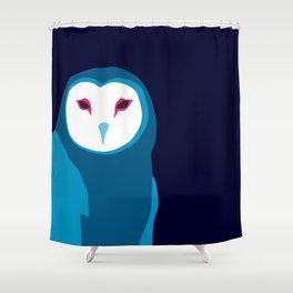 Fancy Owl Shower Curtain