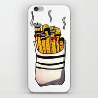 french fries iPhone & iPod Skins featuring French Fries by Bubblesquat