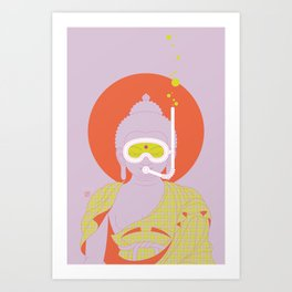 Buddha : Take A Deep Breath! (PopArtVersion) Art Print