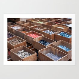 Bead collection at Paris Art Print