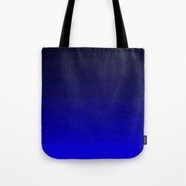 Deep Rich Sapphire Ombre Tote Bag