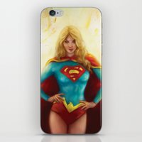 supergirl iPhone & iPod Skins featuring Supergirl by SachsIllustration