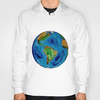 planet Hoodies featuring Planet by Edison Tezolin