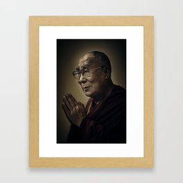 His Holiness The Dalai Lama Framed Art Print