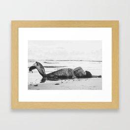 Mermaid Among Us (sunrise)  Framed Art Print