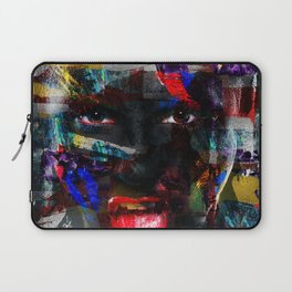 Abstract Art Composition Female face Laptop Sleeve