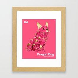 Dd - Dragon Dog // Half Dog, Half Dragon Fruit Framed Art Print