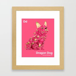 Dd - Dragon Dog // Half Dog, Half Dragon Fruit Framed Art Print
