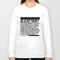 detroit Long Sleeve T-shirts featuring Old Detroit by ashurcollective