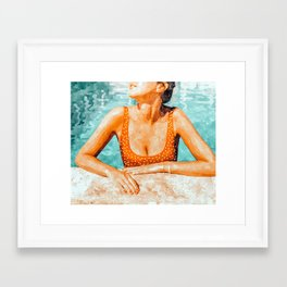 Mi Bebida Por Favor #painting #summer Framed Art Print