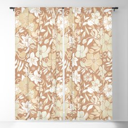 Helleborus and birds | gold Blackout Curtain