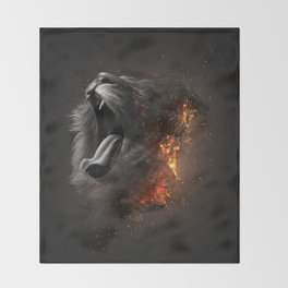 XTINCT x Lion Throw Blanket