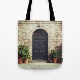 Courtyard Door Tote Bag