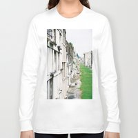 new orleans Long Sleeve T-shirts featuring New Orleans Graveyard  by Carey Lee Designs