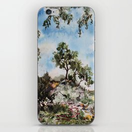 marbled landscape iPhone Skin