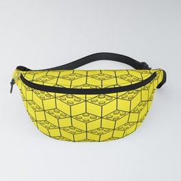 building brick blocks yellow Fanny Pack