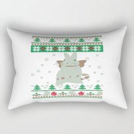 Bunny Christmas Rectangular Pillow