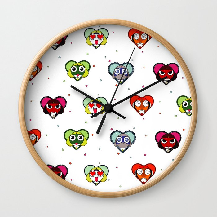Space Froggos Love You! Wall Clock
