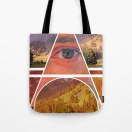 Eye Vs Mountain  Tote Bag