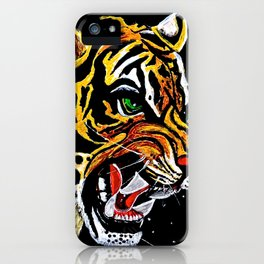 Tiger Stalking Prey Oil Painting iPhone Case