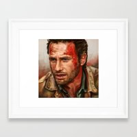 rick grimes Framed Art Prints featuring Rick Grimes  by symphonikaa
