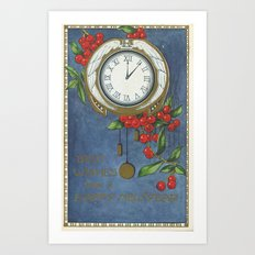 Best Wishes for a Vintage New Year Art Print