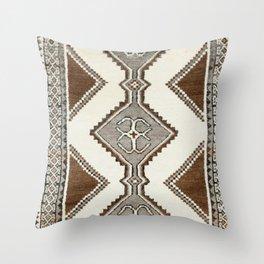 Luri Gabbeh  Antique Fars South West Persian Rug Print Throw Pillow