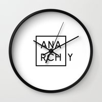 sons of anarchy Wall Clocks featuring ANARCHY by Caphastrotes