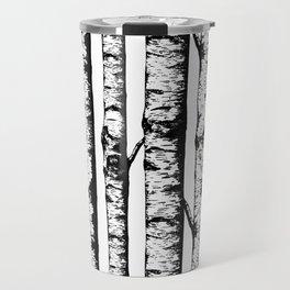 Birch Pattern Large Travel Mug