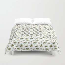 pine branches and cones pattern Duvet Cover