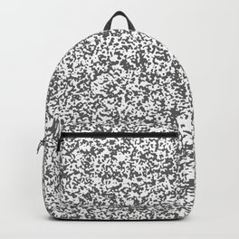 Tiny Spots - White and Dark Gray Backpack