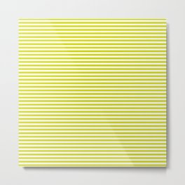 TINY STRIPE ((chartreuse)) Metal Print