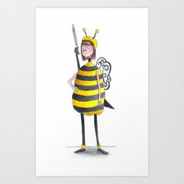 Miss Iona As A Bee Art Print