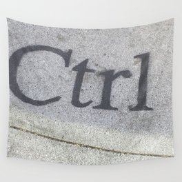 Ctrl Wall Tapestry