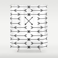 arrows Shower Curtains featuring Arrows by Daniel DeVinney
