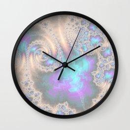 Electric Ocean Faded -Fractal Art Wall Clock