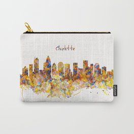 Charlotte Watercolor Skyline Carry-All Pouch