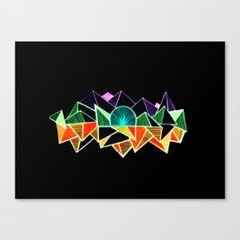 Black geometric minimal triangle Canvas Print