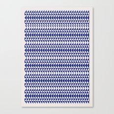 Blue Folk Art Canvas Print