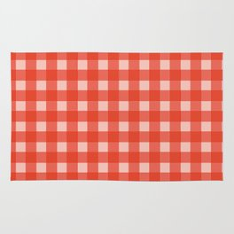Grid Red Color - Accessories for home Rug