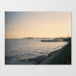Toronto Island Pier Canvas Print