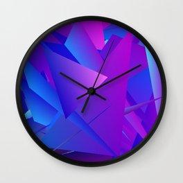 Rhapsody in Blue 4 Wall Clock