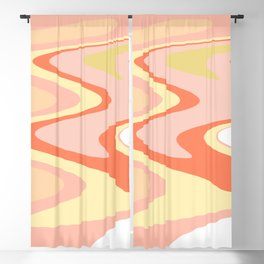 River of dreams, pink and yellow waves, colorful stream of water Blackout Curtain